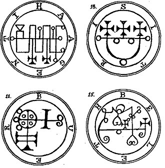 Sigil (magic) - Goetic seals from The Lesser Key of Solomon