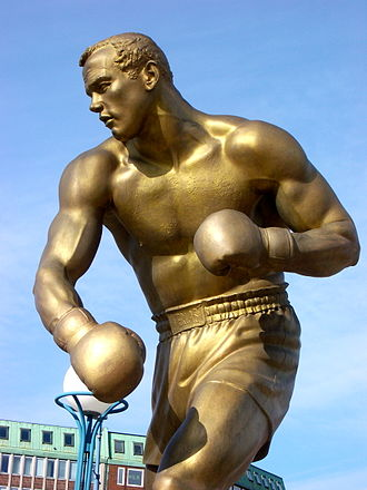 "Ingemar Johansson - ""Ingo the Champ"", Peter Linde's bronze statue of Johansson, was unveiled in his home town Gothenburg in 2011, outside the Ullevi stadium where he won a fight in 1958 against Eddie Machen"