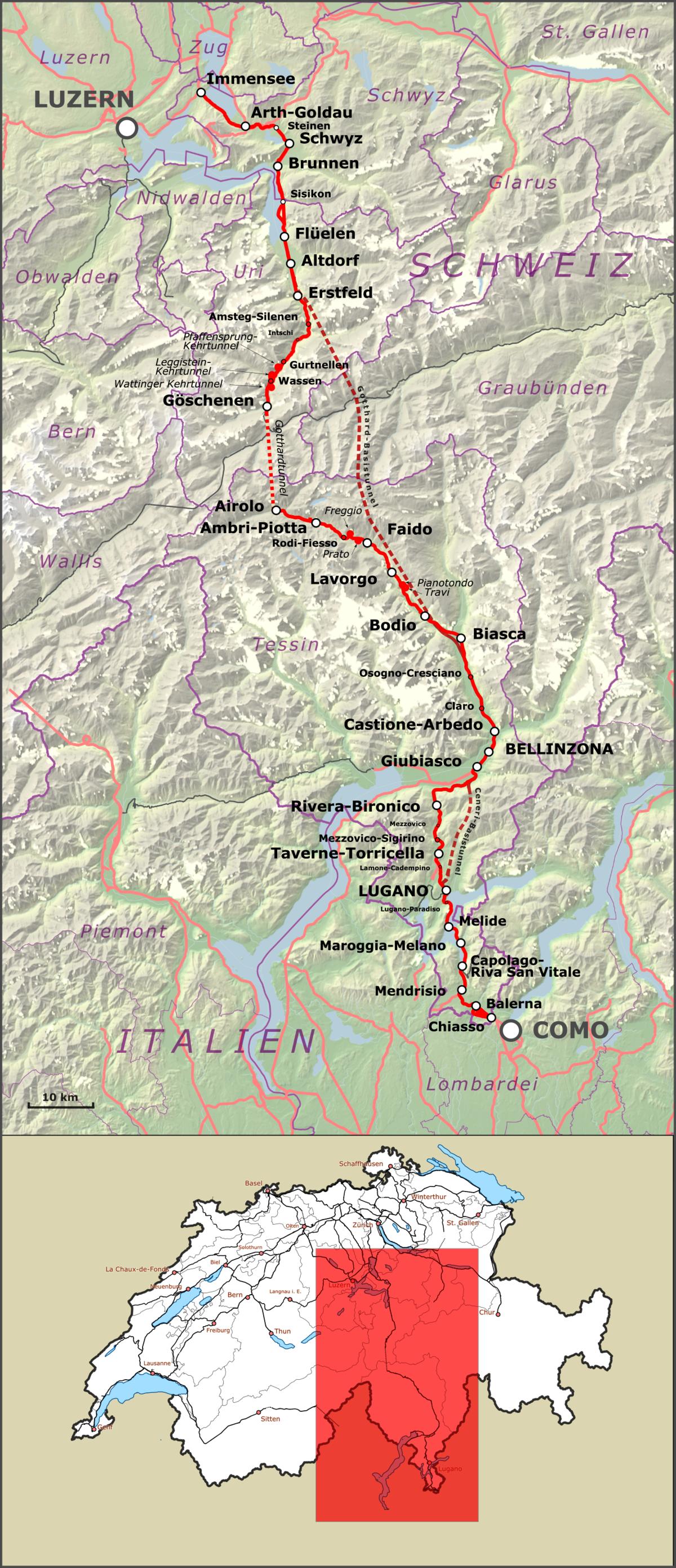 Gotthardin rautatie Wikipedia