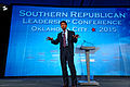 Governor of Louisiana Bobby Jindal at Southern Republican Leadership Conference, Oklahoma City, OK May 2015 by Michael Vadon 135.jpg