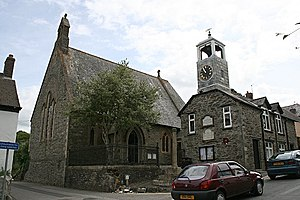 Grampound - St Nun's Church and Town Hall