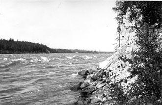 Grand Rapids, Manitoba - The Grand Rapids in 1921