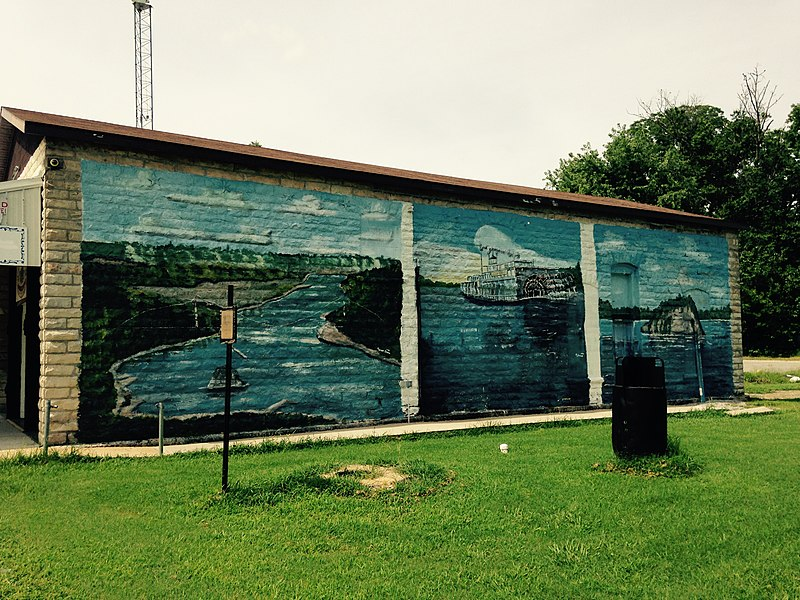 پرونده:Grand Tower, Illinois, Mississippi Museum mural.jpg