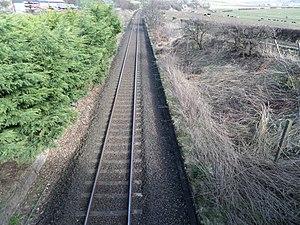 Grangeston Halt railway station - Grangeston Halt looking towards Ayr