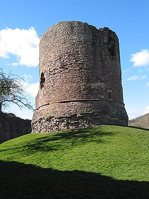 Mary Ellen Bagnall-Oakeley - Great Tower of Skenfrith Castle, also a topic of Bagnall-Oakeley