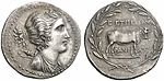 Greek Silver Tetradrachm of Eretria (Euboia), Impressive for a Stephanophoric Tetradrachm.jpg