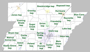 Greene County, Arkansas - Townships in Greene County, Arkansas as of 2010