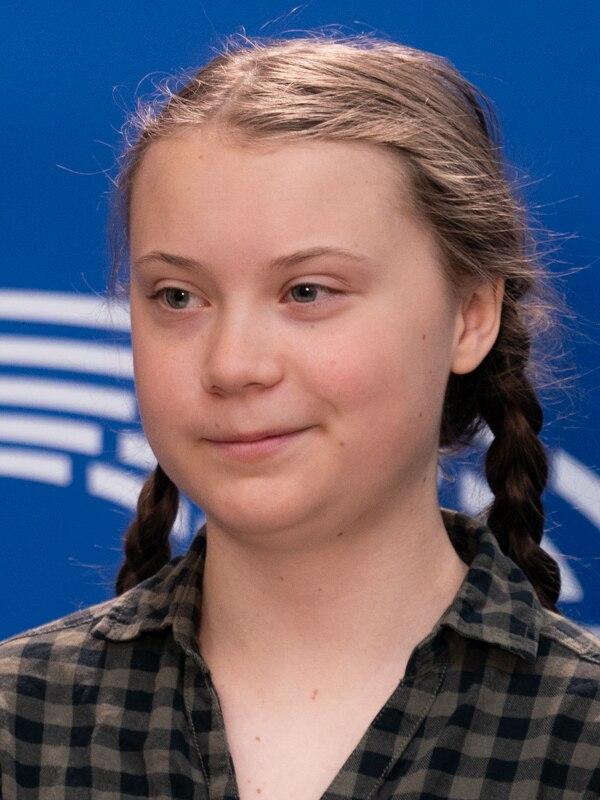 Greta Thunbergová vdubnu 2019