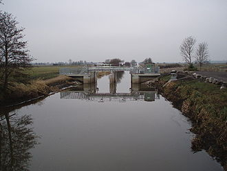 Somerset Levels - Greylake sluice on King's Sedgemoor Drain