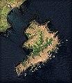 Grieg Island near Kunashir Island, Lesser Kuril Chain, Sentinel-2 satellite image, 2016-06-06.jpg