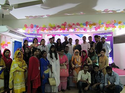 Group photo in panel discussion of All Women Workshop on Wikipedia at 5th National WUB 2016, ComTech Festival at World University of Bangladesh, Dhaka, Bangladesh in 24 November 2016.jpg