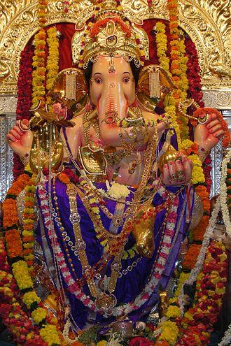 Nagbhid - Ganesha during Ganesh Chaturthi Festival, a popular festival in the Nagbhid.