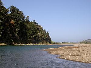 Gualala River - The Gualala River near its mouth.