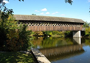Timber Framers Guild - This covered bridge near Guelph, Ontario, Canada was a Guild project