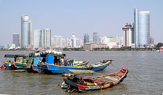 Siming District - Downtown Xiamen seen from the Gulangyu Island