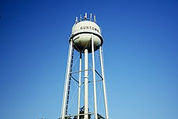 Water tower in Guntown