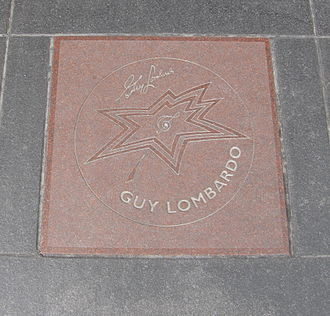Guy Lombardo - Guy Lombardo's star on Canada's Walk of Fame in Toronto