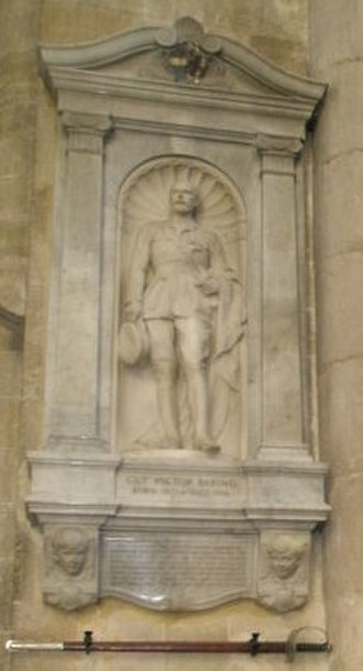 Guy Baring - Memorial to Guy Victor Baring at Winchester Cathedral