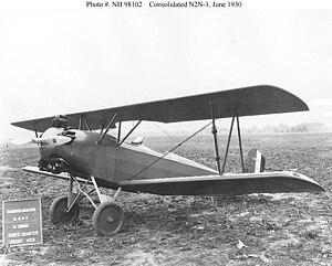 """Fleet Model 1 - U.S. Navy N2Y-1 with """"looped"""" left mainwheel radius rod"""