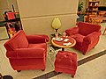 HK 觀塘道 392 Kwun Tong Road 創紀之城六期 Millennium City 6 太平洋咖啡店 Pacific Coffee Co cafe red armchair sofa Table Apr-2013.JPG