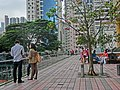 HK CWB HKCL 香港中央圖書館 viewing terrace visitors 大坑地產 view Tai Hang properties Nov-2013.JPG