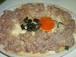 Steam minced pork - Steamed minced pork with salted egg.