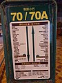 HK Kln 九龍 Kowloon 界限街 Boundary Street 小巴站 public light minibus 70 n 70A stop sign night January 2020 SS2 03.jpg