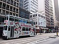 HK SW 上環 Sheung Wan 德輔道中 Des Voeux Road Central tram 77 body ads January 2020 SSG.jpg