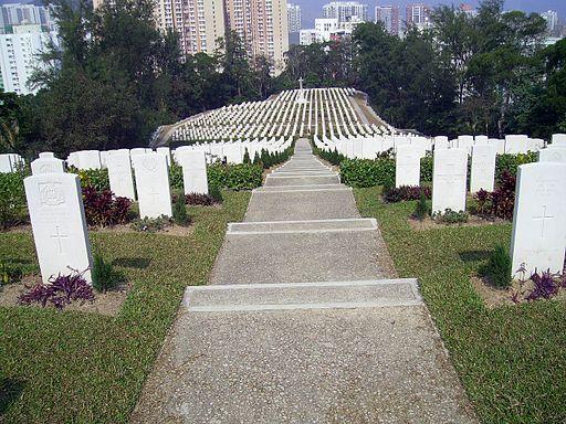 HK SaiWanWarCemetery Gravestones