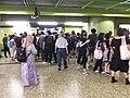 HK wan chai MTR station black clothing people walking evening 2019-08-31 02.jpg