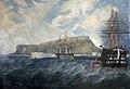 HMS 'Britannia' and HMS 'Trafalgar' at Portland DEV BRNC PCF57.jpg