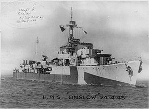 HMS Onslow (G17) - HMS Onslow in 1943