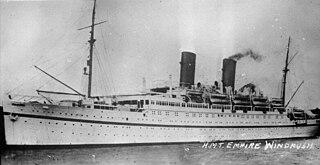 HMT <i>Empire Windrush</i> ship