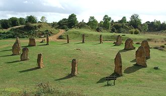 Ham Hill, Somerset - Ham Hill Stone Circle - erected in AD 2000