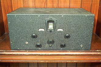 Shortwave radio receiver - Hammarlund Comet Pro shortwave receiver, circa 1931.