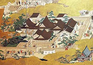 《낙중낙외도 (洛中洛外圖)》에 그려진 무로마치 도노(室町殿)