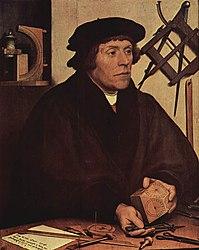 Hans Holbein: Portrait of Nicolaus Kratzer