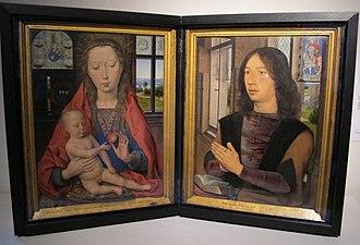 Diptych of Maarten van Nieuwenhove - Image: Hans memling, dittico di maarten van nieuwenhove, 1487, 01