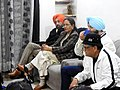 Harvinder Singh (left) Punjabi language writer with his wife and other literary personalities 01.jpg