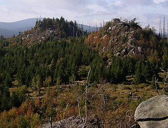 Harz National Park - View from Leistenklippe to the Brocken