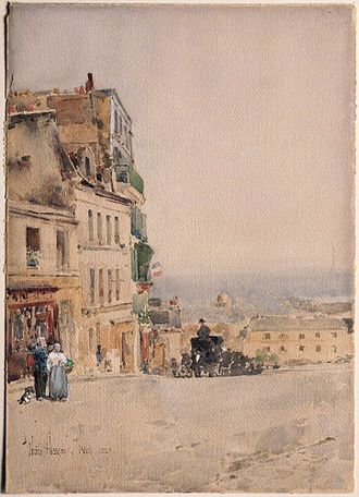 Childe Hassam - View in Montmartre, Paris, 1889, Princeton University Art Museum