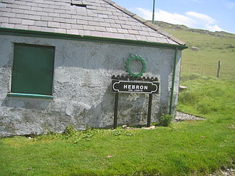 Snowdon Mountain Railway - Hebron station sign