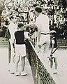 Henri Cochet, Serge Rigault, Bertrand Rigault, Yvon Petra - Roland Garros (août 1944).jpg
