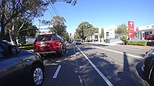 Herbert Street bicycle lane outside the former Tesla dealership.jpg