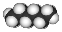 3D structure of a hexane molecule