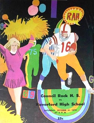Haverford High School - Haverford vs. Council Rock Game Program from 1970