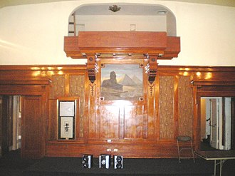 Highland Park Masonic Temple - Image: Highland Park Masonic Temple, Stage in Lodge Room