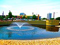 Hilldale Fountain and Sign - panoramio.jpg