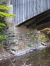 Hillsgrove Covered Bridge abutment.jpg