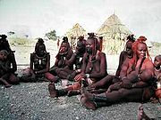 A group of Himba women, near Opuwo, Namibia